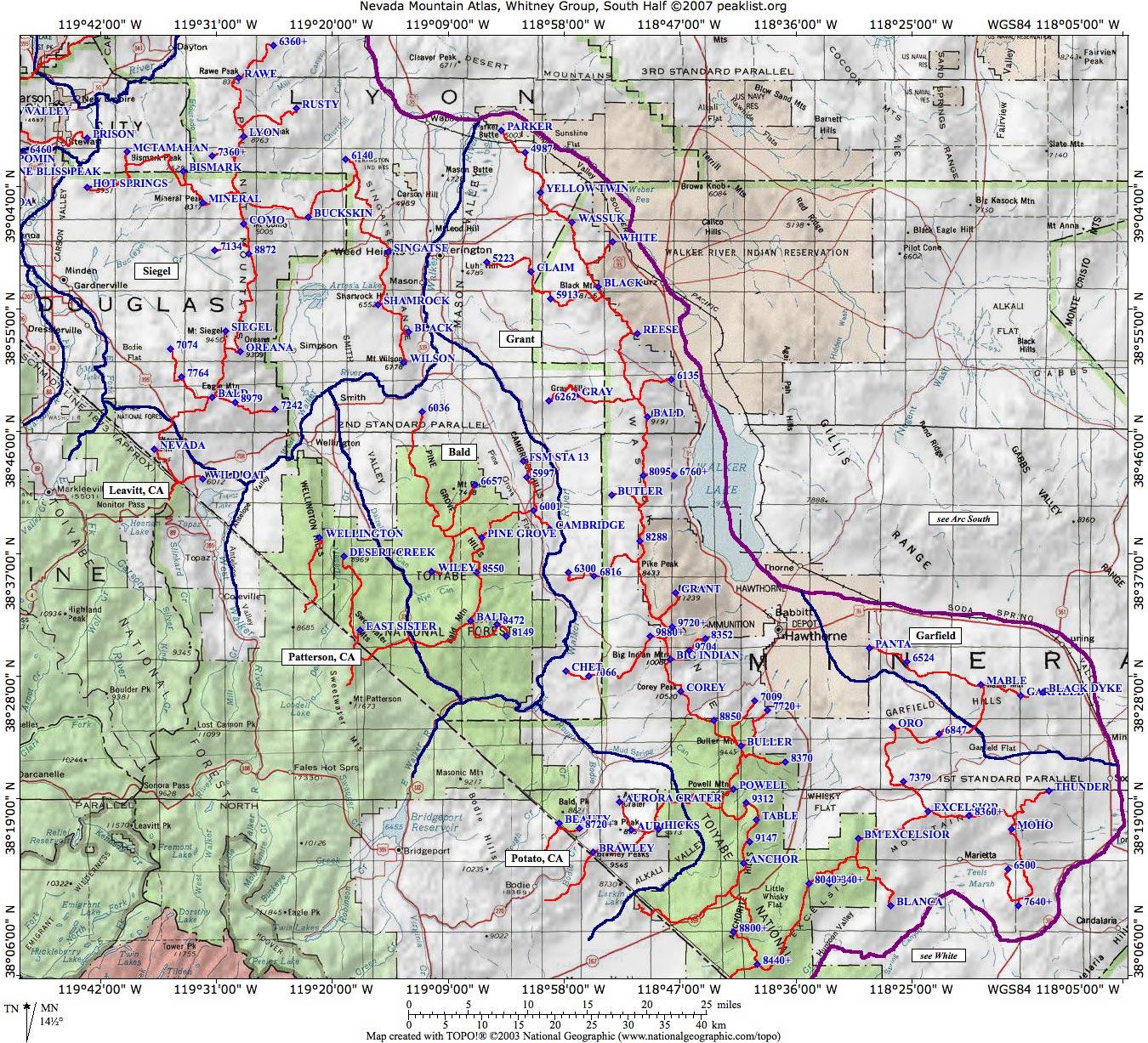 Nevada Mountain Atlas